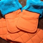 Teal and orange fabric